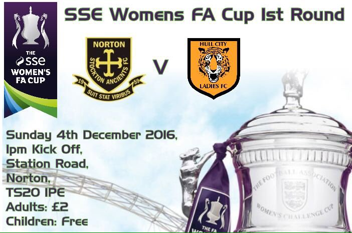 Norton & Stockton Ancients v Hull City in the FA Women's Cup