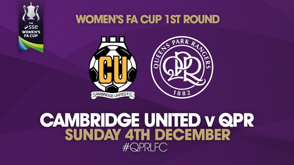 Cambridge United v QPR, FA Cup first round, December 2016