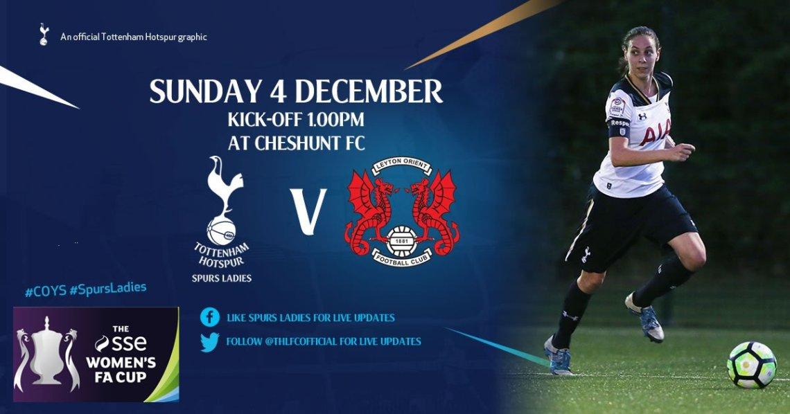 Tottenham Hotspur v Leyton Orient, FA Women's Cup, December 2016